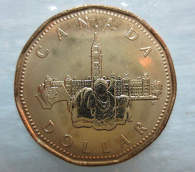 1992 Parliament Loonie Brilliant Uncirculated Dollar Coin