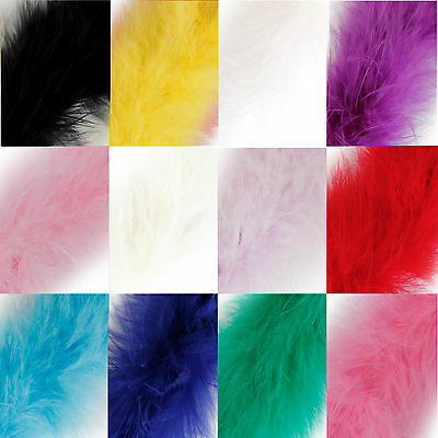9 Colours Choose Length Marabou Swansdown Feather Trim with Tinsel