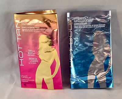 Hot Body Disposable Exfoliating Or Tanning Mitts