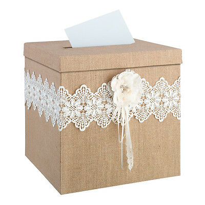 Burlap & Lace Wedding Or Special Occasion Card Box