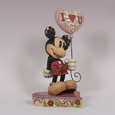 Mickey with Heart Shaped Balloon Disney Figurine  Jim Shore