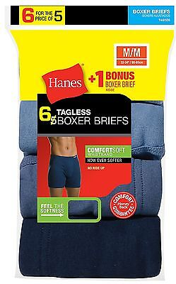 7460Z6 Hanes Men's TAGLESS Boxer Brief with ComfortSoft Waistband 6-Pack (Includ