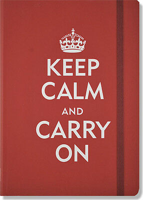 NEW Keep Calm And Carry On Journal Beaded Bookmark Set