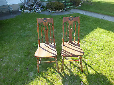 VINTAGE ANTIQUE  chairs set two in good condition must see!!