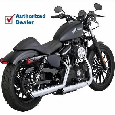 Vance & Hines Twin Slash 3 Inch Slip On Mufflers 14-2017 Harley Sportster 16861