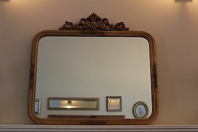 Antique Gold Gilt Wall Mirror French Provincial Wood Gesso