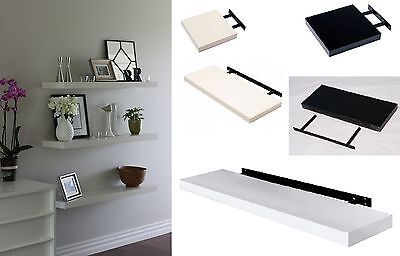 High Gloss Floating Wall Shelf Display Shelves Bookshelf CD Storage Wall Mounted