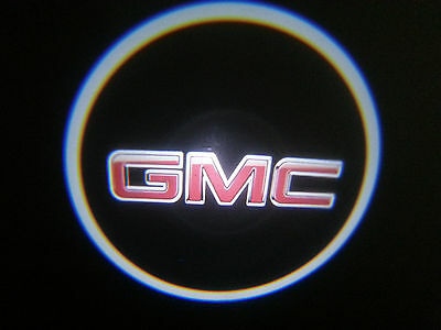 2Pc Gmc 5W Led Emblem Door Projector Ghost Shadow Puddle Logo Light