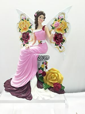 Graceful Blossom Angel Figurine - Old Country Rose  Bradford Exchange