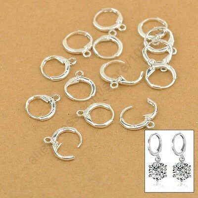 10pcs .925 Sterling Silver LEVERBACK Hook Earwire Earring Findings DIY