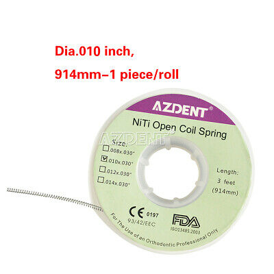 1 Pc Dental Ortho Orthodontic Use Niti Dia.012 inch, 914mm Open Coil Springs