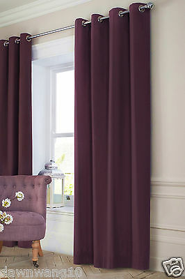 BLOCKOUT 3 Layers Thermal Insulated Eyelet Curtain-Dark Purple Drop 230cm