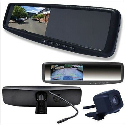 'Car Rear View 4.3 inch LCD Mirror Monitor Reverse Backup Parking Cam HD 2 Input