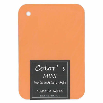 "Japanese Mini Orange Plastic Kitchen Cutting Board 8-3/8"" x 6"", Made in Japan"