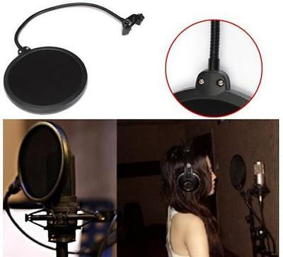 DZ846 Double Layer Studio Microphone Mic Wind Mask Gooseneck Shield Pop Filter
