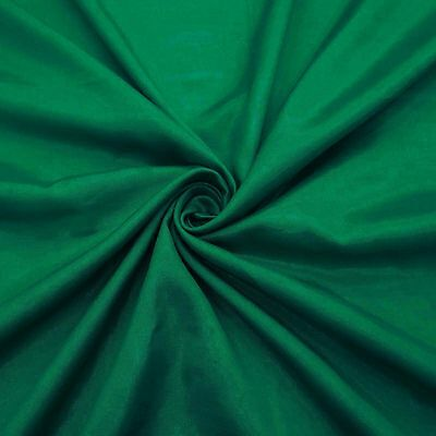 "42""Wide Poly Shantung Gown Fabric Green Solid Party Dress Material By The Yar"
