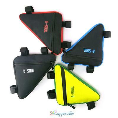 Triangular Bag Bike Cycling Front Tube Frame Triangle Bicycle Storage Pouch UK