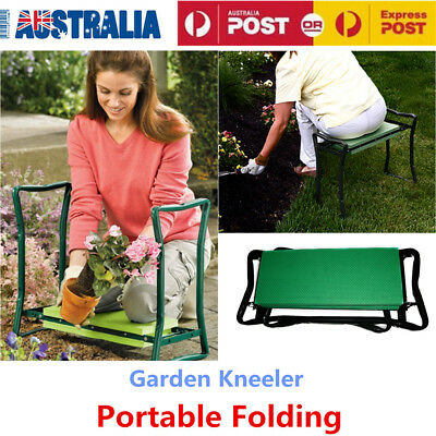 Portable Folding Garden Kneeler Kneel Chair Pad Cushion Comfort Seat Stool OZ