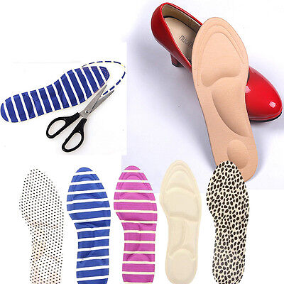 Useful High Heel Sponge 3D 4D Shoe Insoles Cushions Pads DIY Cutting Feet Care
