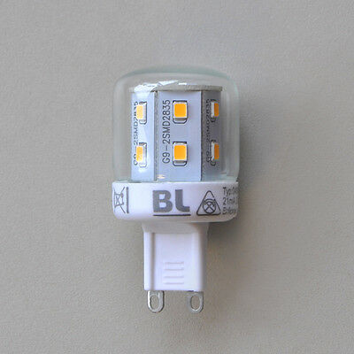 Power LED Energiesparlampe G9 2,6W Briloner Sparlampe G 9 16x SMD LED`s A++ NEU