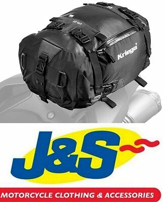 Kriega Us20 Dry Bag Motorcycle Tail Pack Luggage Touring Commuting 20 Litre J&s