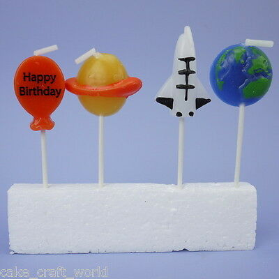 Space Pick Candles, Pack of 4