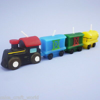 Set Of 4 Train Candles