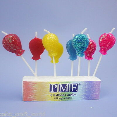 Balloon Glitter Candles On Picks, Pack Of 8