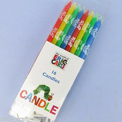 Pack Of 16 Hungry Caterpillar Candles