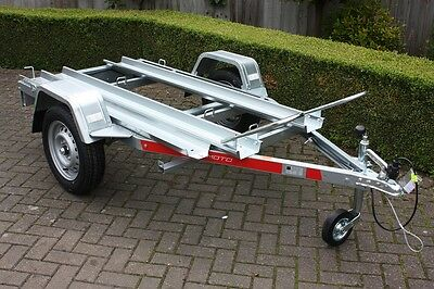 1 or 2 x Motorcycle Motorbike Trailer Tema Moto2 - Two x Channel with Ramp 750kg