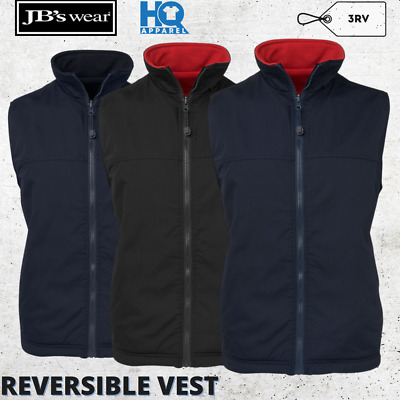 Reversible Vest Jacket Mens Polar Fleece Marksman Xs S M L Xl 2Xl 3Xl 4Xl 5Xl