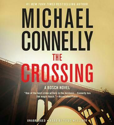 The Crossing by Michael Connelly (English) Compact Disc Book Free Shipping!