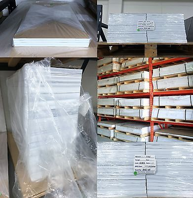 """White Polstyrene Plastic Lot of 40 Sheets .020"""" x 12"""" x 50"""" Vacuum Forming HIPS"""