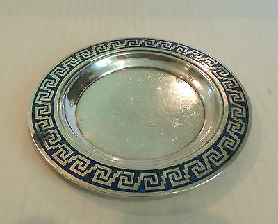 """TAXCO MEXICO STERLING SILVER with INLAID LAPIS STONE DESIGN, SIGNED """"LEDESMA"""""""