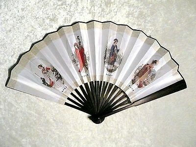 Asian Bamboo The Four Ancient Beauties Printed Large Wall Decor Folding Hand Fan