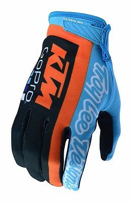 New Troy Lee Designs Tld Ktm Gopro Air Motocross Mx Gloves Navy All Sizes