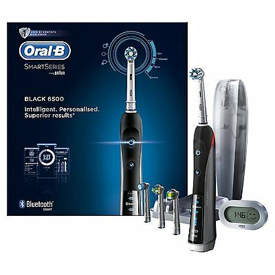 Oral-B Smart Series 6500 Electric Rechargeable Toothbrush Powered by Braun new