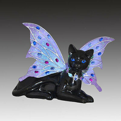 Storm Feline Fairy Cat Figurine - Bradford Exchange