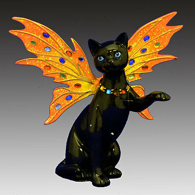 Noir Feline Fairy Cat Figurine - Bradford Exchange