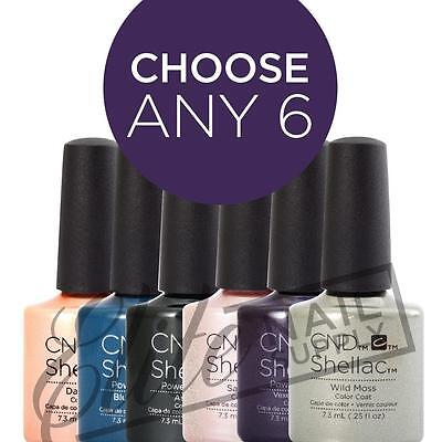 CND SHELLAC UV Color Coat 7.3ml - Choose Any 6 Colours + FREE CND SolarOil