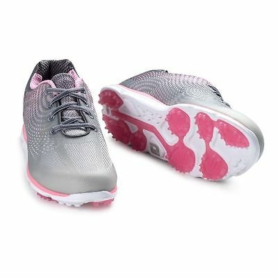 New FootJoy Women's emPower Spkl Golf Shoes, Grey/Pink, 98000 Close-out