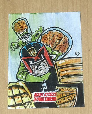 2015 Topps Mars Attacks Occupation Kickstarter Judge Dredd sketch Robert Jimenez