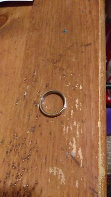 Mens gold and sliver size 8.5 ring