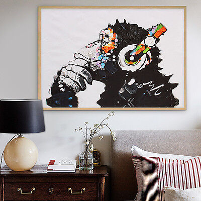 Unframed Modern Abstract Wall Art DJ MONKEY Chimp Canvas Prints Animal Picture