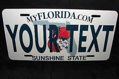 Florida State Metal Novelty License Plate For Cars Your Text Customize License