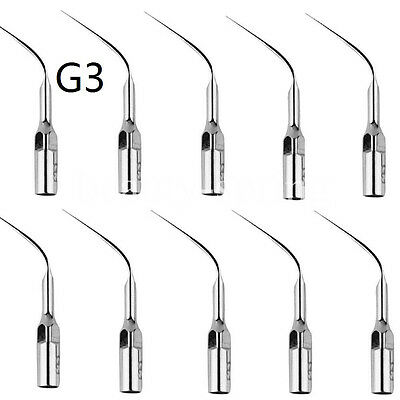10pcs Dental Ultrasonic Piezo Scaling Scaler Tips G3 for EMS Scaler & Handpiece