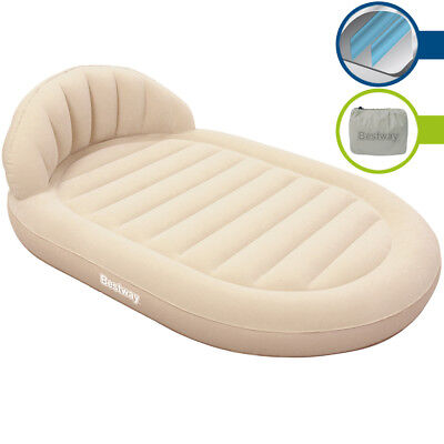 Air Bed Mattress Bestway Double Airbed Guest 215cm Round Inflatable Flocked