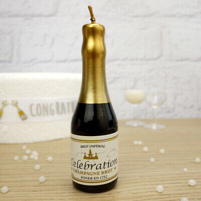 Large Champagne Bottle Candle