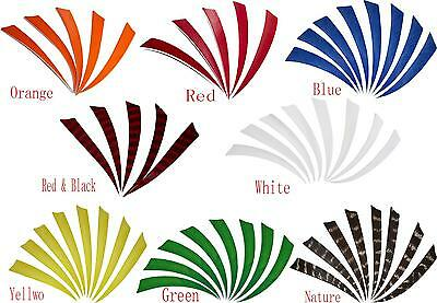 4/5'' Right Wing Shield Natural Turkey Feathers Hunting Arrow Fletching Handmade
