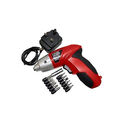 3.6V Cordless Electric Rechargeable Screwdriver With Accessories & Charger Diy